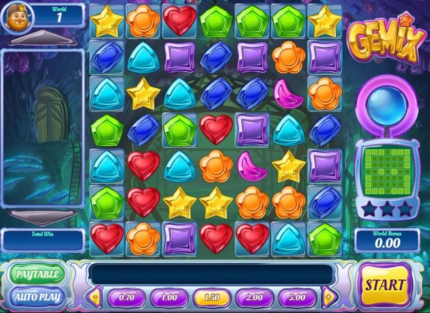 La grafica e le caratteristiche della Gemix slot machine di Play'n Go.